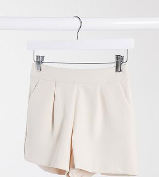 Miss Selfridge Petite shorts co-ord in beige
