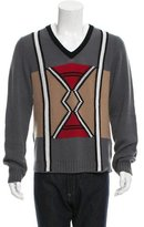 Prada Cashmere Patterned Knit Sweater
