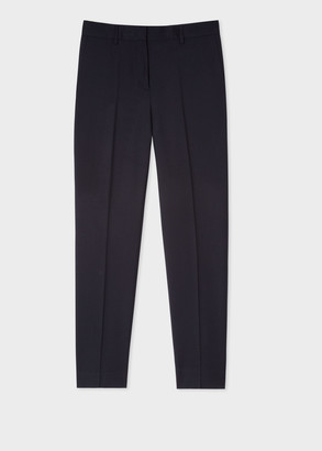 Paul Smith A Suit To Travel In - Women's Slim-Fit Navy Wool Trousers