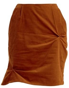 Charles Jeffrey Loverboy Twist-stitch Cotton-corduroy Mini Skirt - Womens - Brown