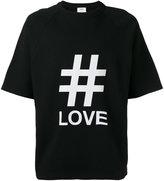 Ports 1961 oversized love print T-shirt - men - Cotton/Polyurethane - XS