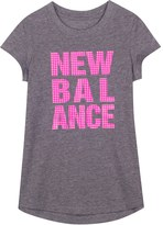 New Balance Girls 4-6x Relaxed-Fit Performance Graphic Tee