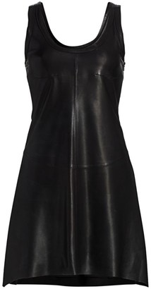 Helmut Lang Leather Tank Dress