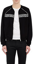 Alexander McQueen Men's Jacquard-Inset Cotton Track Jacket