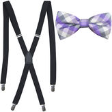 Jf J.Ferrar JF Tonal Check Bowtie and Suspender Set