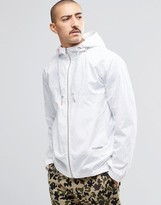 Converse Windbreaker With Reflective Print In White 10002798-a01