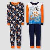 Lego Boys' ; Star Wars BB8 4 Piece Cotton Pajama Set - Navy