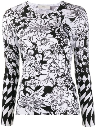 Pringle Floral Long-Sleeve Jumper