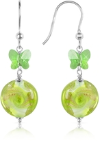 Murano House of Vortice - Lime Swirling Glass Bead Earrings