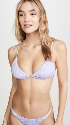Tori Praver Swimwear Jagger Smocked Triangle Top