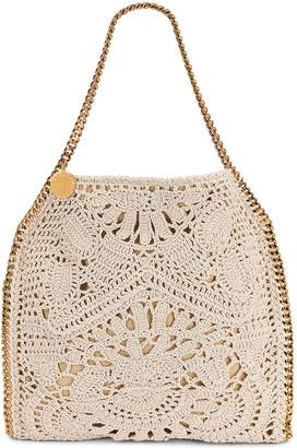 Stella McCartney Small Crochet Ajouree Bag in Butter | FWRD