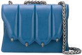 Marco De Vincenzo claw flap shoulder bag - women - Calf Leather/metal - One Size