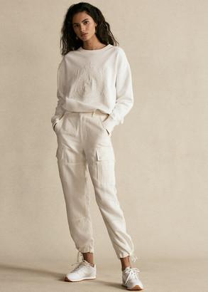 Ralph Lauren Silk-Blend Cargo Pant