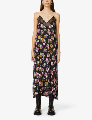 Zadig & Voltaire Risty floral silk-crepe midi dress