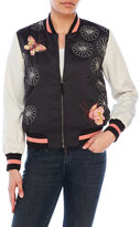 Max Studio Butterfly Cherry Blossom Bomber Jacket