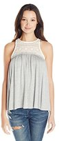 Jolt Women's Knit Top with Lace Inset