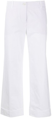 Alberto Biani Cropped Wide-Leg Trousers