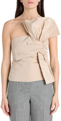 Givenchy Bustier In Taffeta Con Fiocco Oversize