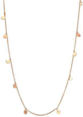 Kismet By Milka 14K Rose Gold Dangle Circles Necklace, 18""