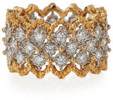 Buccellati Rombi 18K Gold Diamond Ring, 1.02 tdcw, Size 53
