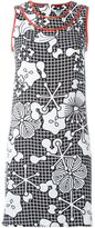 Kenzo floral and check print dress - women - Polyester - 36
