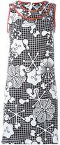 Kenzo floral and check print dress