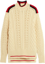 Isabel Marant Edison Oversized Cable-knit Wool-blend Sweater - Ecru