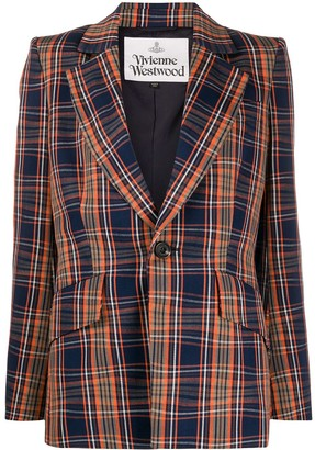 Vivienne Westwood Structured-Shoulder Check Blazer