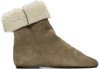 Isabel Marant Taupe Shearling Rullee Boots