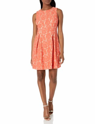 Jessica Howard JessicaHoward Women's Petite Lace A-Line Dress