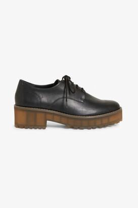Monki Chunky heel derby shoes