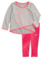 Nike Infant Girl's Dri-Fit Graphic Tee & Print Leggings Set