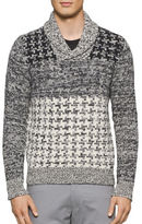 Calvin Klein Parallel Houndstooth Ombre Lambswool Sweater
