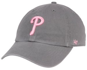 '47 Philadelphia Phillies Dark Gray Pink Clean Up Cap