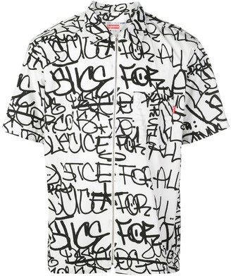 Supreme x CDG graphic print shirt