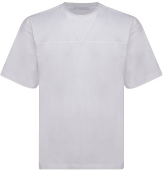 Prada Logo Patch Crewneck T-Shirt