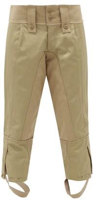 Junya Watanabe Panelled Cotton Twill Trousers - Womens - Beige