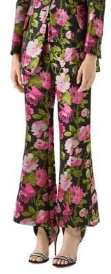 Gucci Floral Jacquard Flare Pants