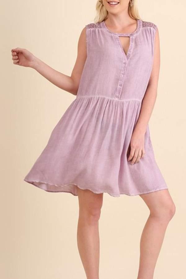 Umgee USA Washed Sleeveless Dress