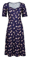 Dorothy Perkins Womens Tall Navy Ditsy Print Dress