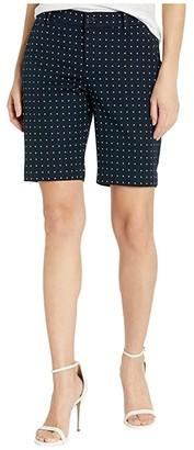 Lauren Ralph Lauren Petite Stretch Cotton Twill Bermuda Shorts (Lauren Navy/Silk White) Women's Shorts