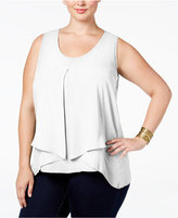 NY Collection Plus Size Inverted-Pleat Top