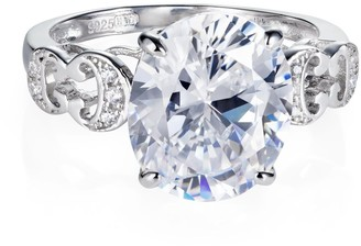 Hendrikka Waage Baron Sterling Silver Ring With White Zirconia Stone