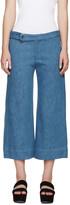 Nomia Blue Wide-leg Denim Trousers