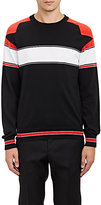 Givenchy Men's Striped Crewneck Sweater-BLACK