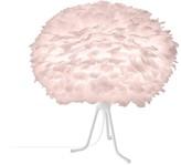 EOS Umage UMAGE - Medium Light Rose Feather With White Base Tripod Table Lamp - Pink/White
