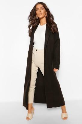 boohoo Maxi Length Wool Look Coat