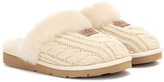 UGG Shearling-lined Knitted Slippers