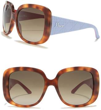 Christian Dior Lady Lady 1 56mm Oversized Square Sunglasses
