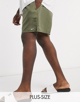 Nike Swimming Plus 5inch Volley shorts in khaki